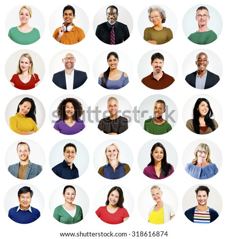 Diverse People Multi Ethnic Variation Casual Concept - stock photo