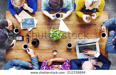 Diverse People Using Technology Meeting Seminar Conference Concept - stock photo