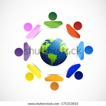 diversity around the globe. - stock photo