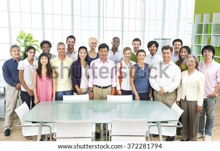 Diversity Business Collaboration Partnership Teamwork Concept - stock photo