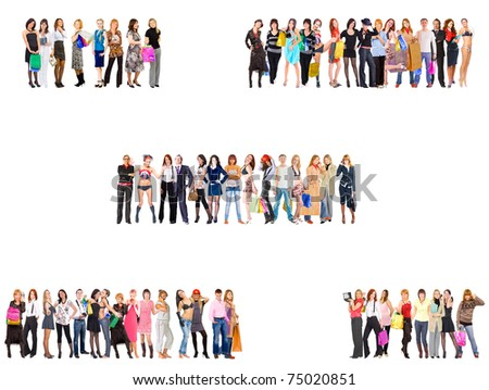 Diversity Business Lines - stock photo