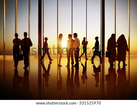 Diversity Business People Commuter Corporate Concept
