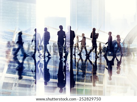 Diversity Business People Corporate Rush Hour Concept