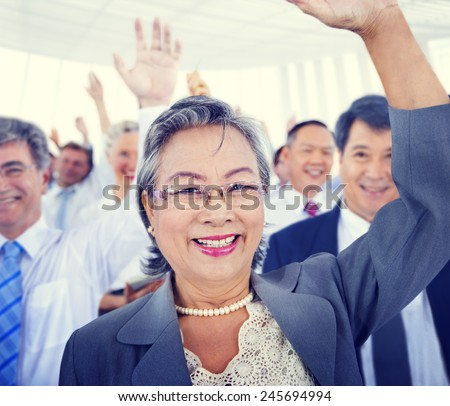 Diversity Business people Meeting Team Voting Concept - stock photo