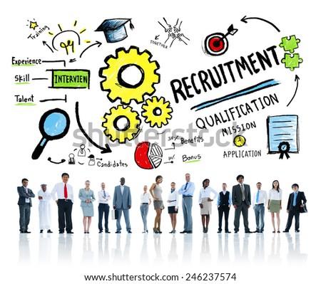 Diversity Business People Recruitment Profession Concept - stock photo