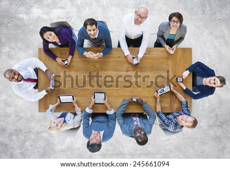 Diversity Business People Team Digital Devices Meeting Concept - stock photo