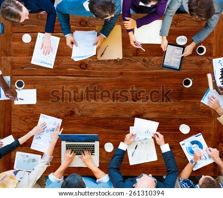Diversity Business Team Planning Board Meeting Strategy Concept - stock photo