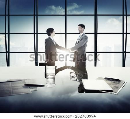 Diversity Businessmen Partnership Success Support Concept - stock photo