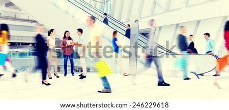 Diversity Casual People Buying Shopping Mall Concept - stock photo