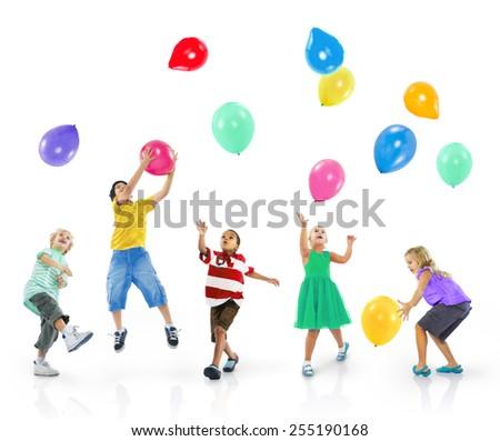 Diversity Children Happiness Aspirations Cheerful Concept - stock photo