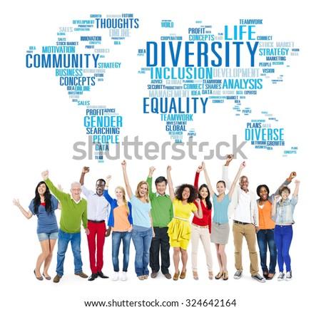 Diversity Ethnicity World Global Community Concept - stock photo