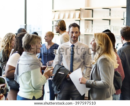 Diversity Group of People Meet up Party Concept - stock photo