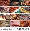 diversity of meat picture collection - stock photo
