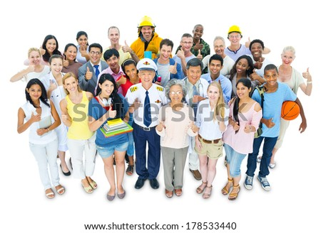 Diversity of People and Occupations - stock photo