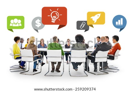 Diversity People Discussion Brainstorming Communication Concept - stock photo