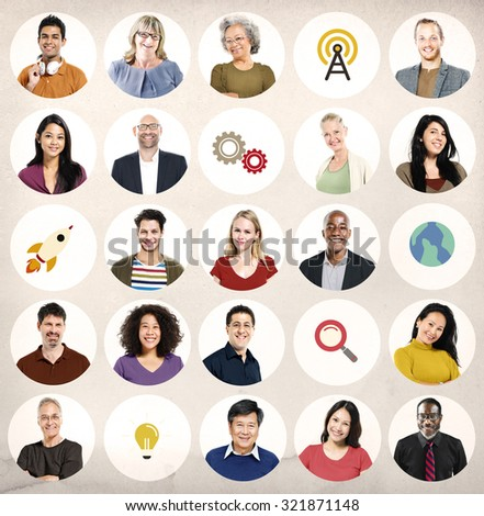 Diversity People Global Communication Wireless Technology Concept