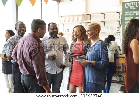 Diversity People Party Brunch Cafe Concept - stock photo