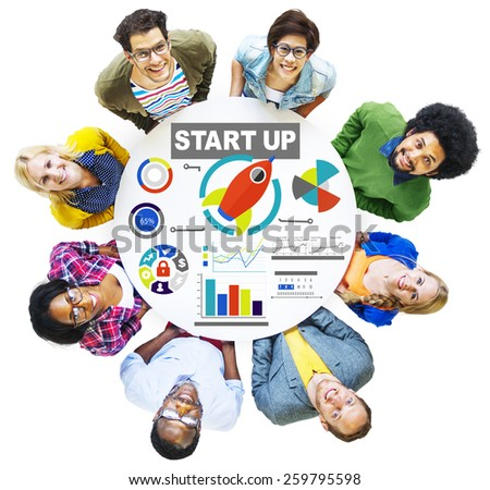 Diversity People Team Start Up Creativity Goals Vision Concept - stock photo