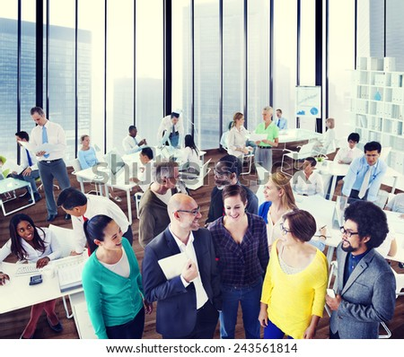 Diversity Support Organization Team Discussion Working Concept - stock photo