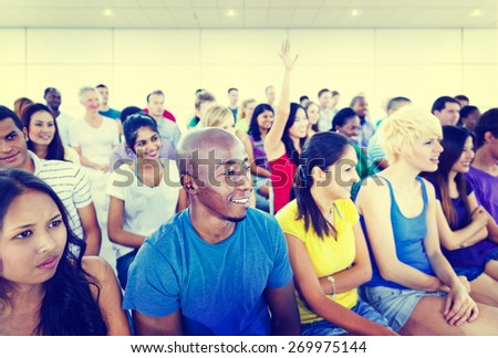 Diversity Teenager Team Seminar Training Education Concept - stock photo