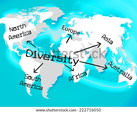 Diversity World Meaning Mixed Bag And Worldwide - stock photo