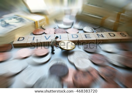 Dividends Zoom Burst Man moving His Money High Quality