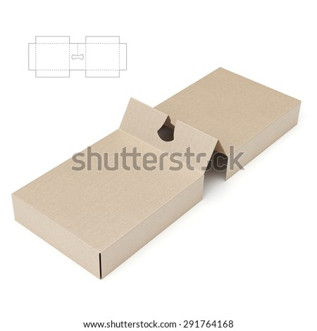 Retail box blueprint template stock vector 381530050 shutterstock divider and holder packaging with die line blueprint malvernweather Images