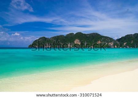 Divine Coastline Vacation Wallpaper  - stock photo