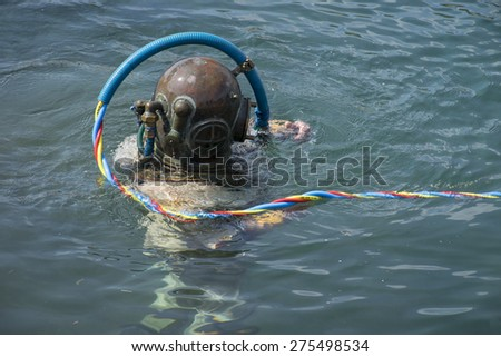 Diving - stock photo