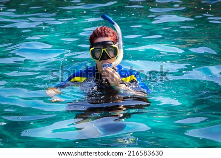 Diving in - stock photo