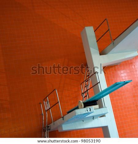 Diving platform - stock photo
