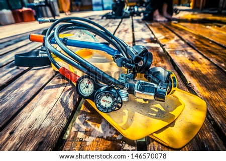 diving sport  - stock photo