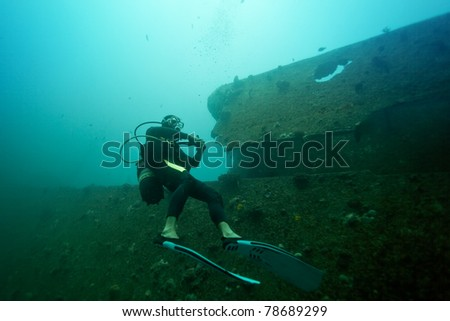 Diving the wrack of Stella Maru, Mauritius