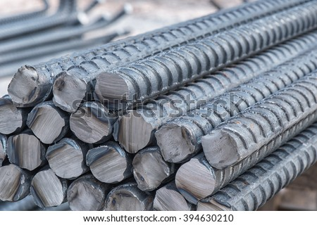 Division rebar big size used in construction concrete - stock photo