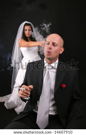 Divorce after marriage - stock photo