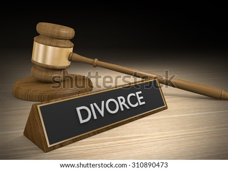 Divorce and marital separation family law concept