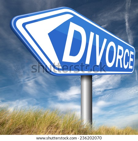 divorce papers or document by lawyer to end marriage dissolution often after domestic divorce violence alimony   - stock photo