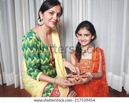 Diwali celebrations in India. - stock photo