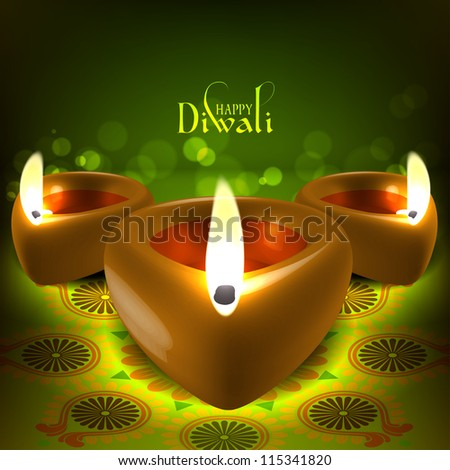 Diwali Oil Lamp - stock photo