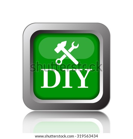 DIY icon. Internet button on black background.