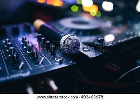 Dj Karaoke microphone kit - stock photo