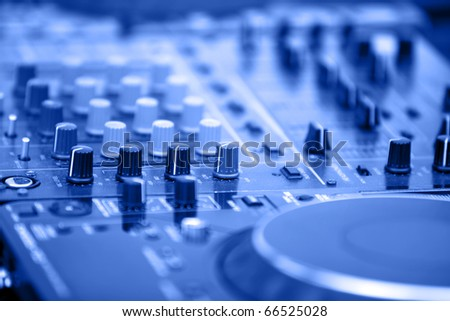 DJ's equipment background