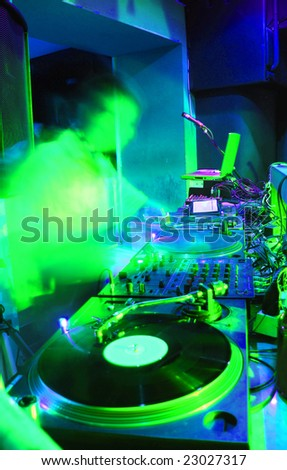 DJ's Music Equipment, Plastic, Belgrade, Serbia - stock photo
