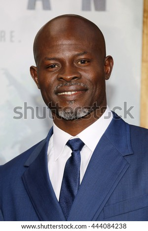 Djimon Hounsou at the Los Angeles premiere of 'The Legend Of Tarzan' held at the Dolby Theatre in Hollywood, USA on June 27, 2016. - stock photo