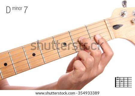 Dm 7 Minor Seventh Keys Guitar Tutorial Stock Photo & Image (Royalty ...
