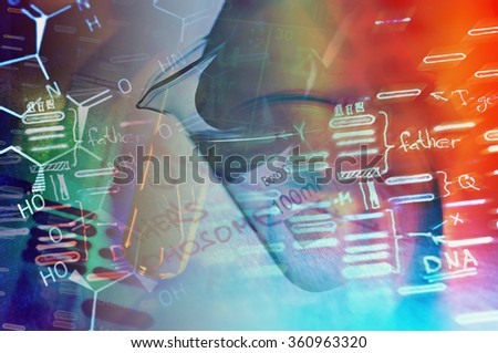 DNA data. Science concept.  - stock photo