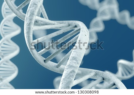 DNA double helix. High resolution 3d rendering. - stock photo