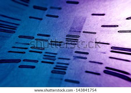 DNA fingerprints. Pincushion lens use. - stock photo