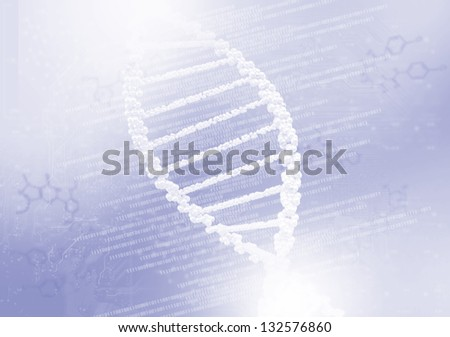 DNA helix against the colored background, scientific conceptual background - stock photo