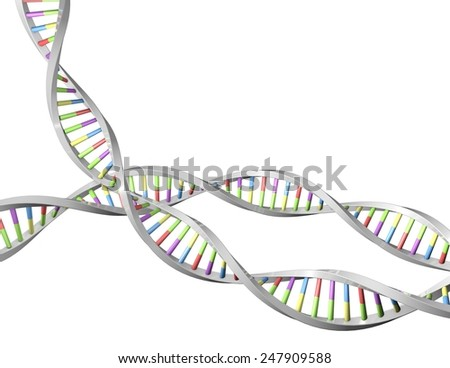 DNA helix 3d shape, science, biotechnology concept.